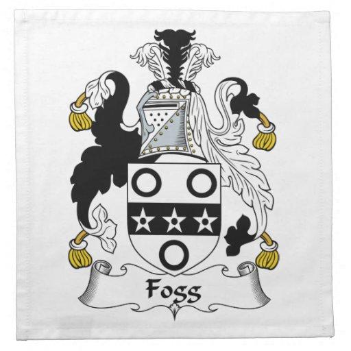 Escudo de la familia de Fogg Servilleta Imprimida