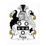 Escudo de la familia de Fogg Tarjetas Postales
