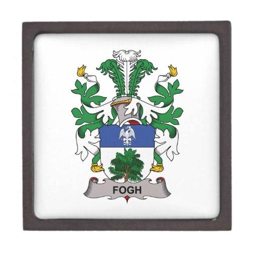 Escudo de la familia de Fogh Cajas De Recuerdo De Calidad