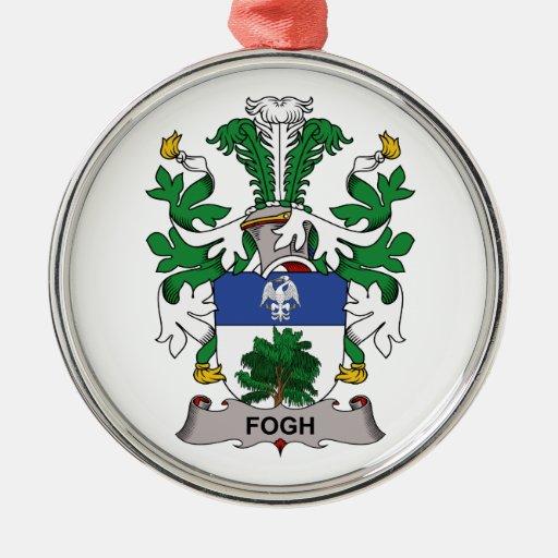 Escudo de la familia de Fogh Adorno Redondo Plateado