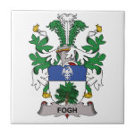 Escudo de la familia de Fogh Teja Ceramica