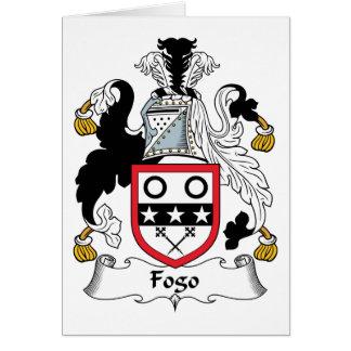 Escudo de la familia de Fogo Tarjeta De Felicitación