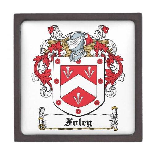 Escudo de la familia de Foley Cajas De Joyas De Calidad