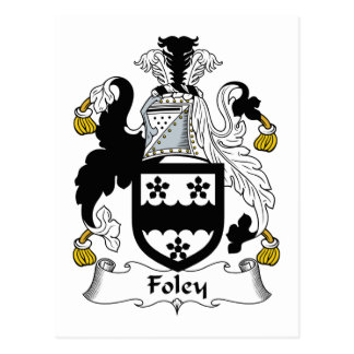 Escudo de la familia de Foley Tarjeta Postal