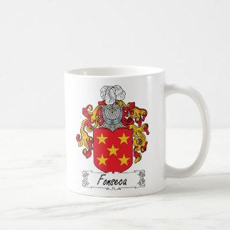 Escudo de la familia de Fonseca Taza Básica Blanca