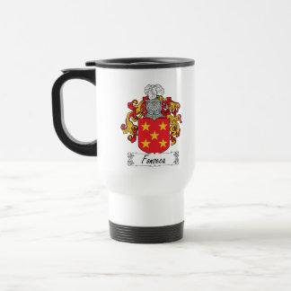 Escudo de la familia de Fonseca Taza De Viaje De Acero Inoxidable