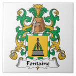 Escudo de la familia de Fontaine Azulejo Cerámica
