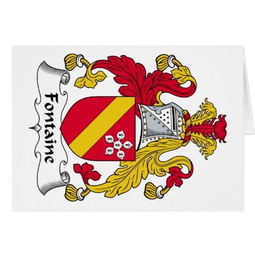 Escudo de la familia de Fontaine Tarjeta De Felicitación