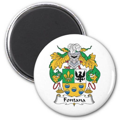 Escudo de la familia de Fontana Imán Redondo 5 Cm
