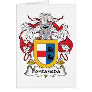 Escudo de la familia de Fontaneda Tarjeta De Felicitación