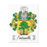 Escudo de la familia de Fontanella Lona Envuelta Para Galerías