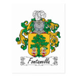 Escudo de la familia de Fontanella Tarjeta Postal