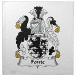 Escudo de la familia de Fonte Servilleta Imprimida