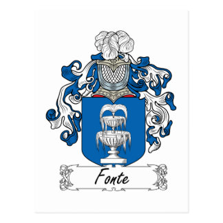 Escudo de la familia de Fonte Tarjetas Postales