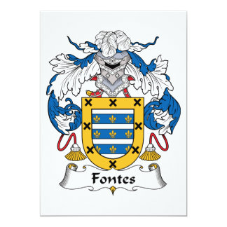"""Escudo de la familia de Fontes Invitación 5"""" X 7"""""""