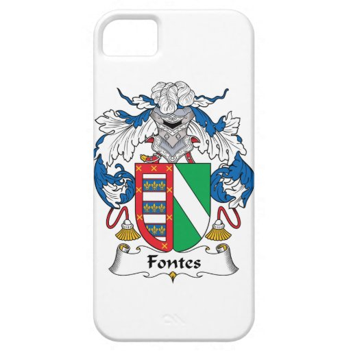 Escudo de la familia de Fontes iPhone 5 Funda