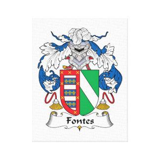 Escudo de la familia de Fontes Lona Envuelta Para Galerías