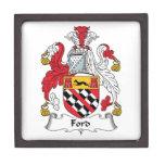 Escudo de la familia de Ford Caja De Joyas De Calidad