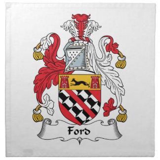 Escudo de la familia de Ford Servilleta