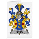 Escudo de la familia de Forde Felicitacion