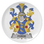 Escudo de la familia de Forde Platos