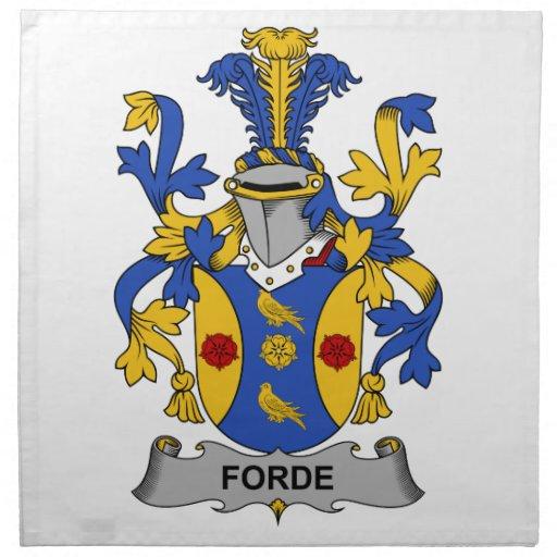 Escudo de la familia de Forde Servilletas De Papel