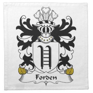 Escudo de la familia de Forden Servilletas De Papel