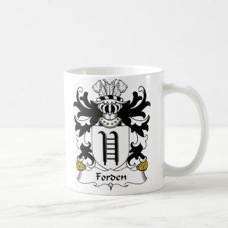 Escudo de la familia de Forden Taza