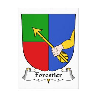 Escudo de la familia de Forestier Impresión De Lienzo