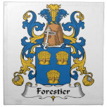Escudo de la familia de Forestier Servilleta