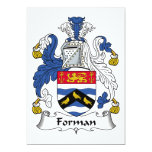 Escudo de la familia de Forman Comunicado Personal