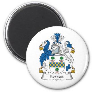 Escudo de la familia de Forrest Imán Redondo 5 Cm