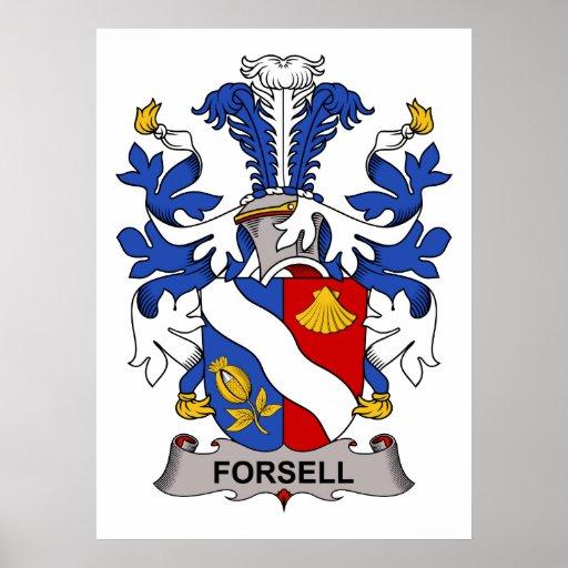Escudo de la familia de Forsell Posters