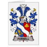 Escudo de la familia de Forsell Tarjetón