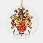 Escudo de la familia de Forst Ornamento Para Arbol De Navidad