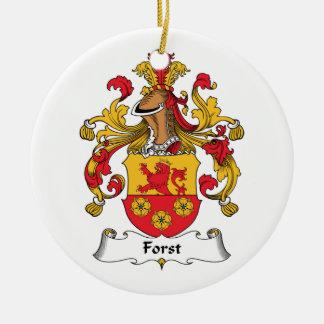 Escudo de la familia de Forst Adorno Redondo De Cerámica
