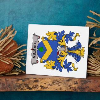 Escudo de la familia de Forsten Placa De Madera