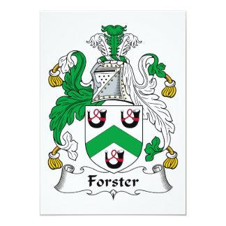 """Escudo de la familia de Forster Invitación 5"""" X 7"""""""