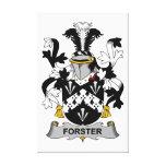Escudo de la familia de Forster Impresión En Lienzo Estirada
