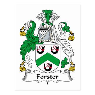 Escudo de la familia de Forster Postal