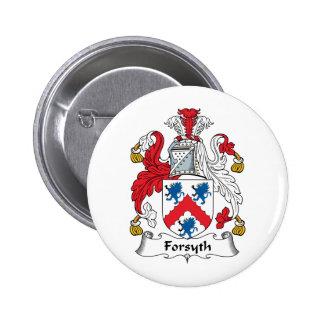 Escudo de la familia de Forsyth Pin Redondo De 2 Pulgadas