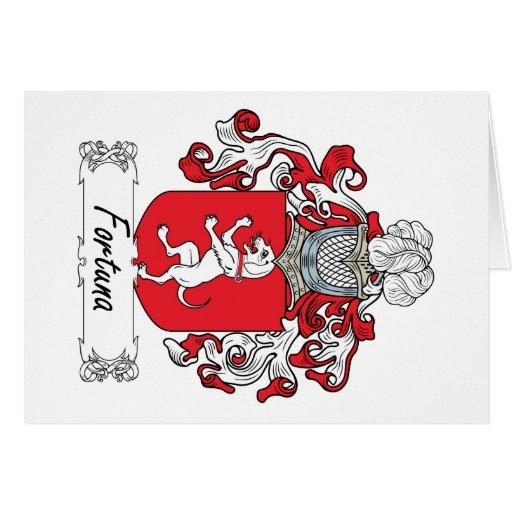 Escudo de la familia de Fortuna Felicitación