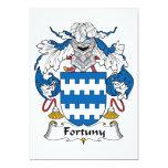 Escudo de la familia de Fortuny Invitación 12,7 X 17,8 Cm