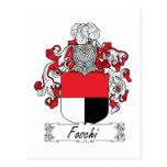 Escudo de la familia de Foschi Tarjeta Postal