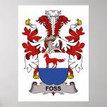 Escudo de la familia de Foss Poster