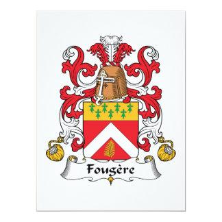 """Escudo de la familia de Fougere Invitación 6.5"""" X 8.75"""""""