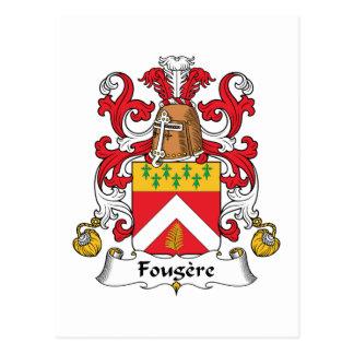 Escudo de la familia de Fougere Postal