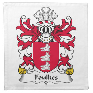 Escudo de la familia de Foulkes Servilletas De Papel