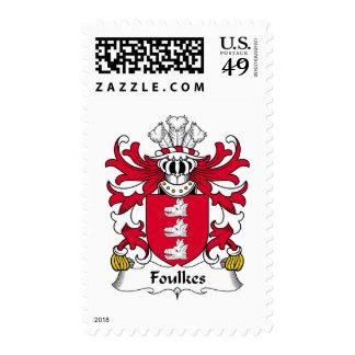 Escudo de la familia de Foulkes Timbre Postal