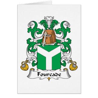 Escudo de la familia de Fourcade Tarjeta De Felicitación